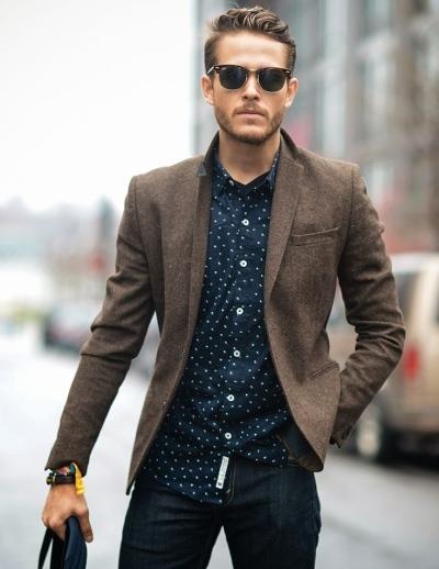 Мужской пиджак с узкими рукавами