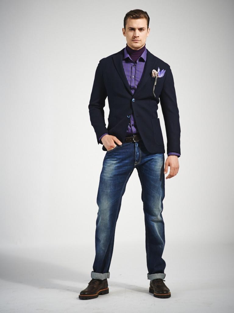 фото джинсы с пиджаком мужские